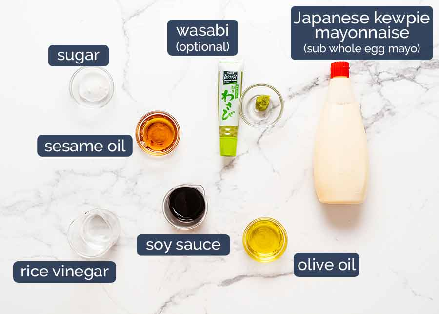 Dressing ingredients for Japanese Slaw - Chargrill Charlie's Copycat