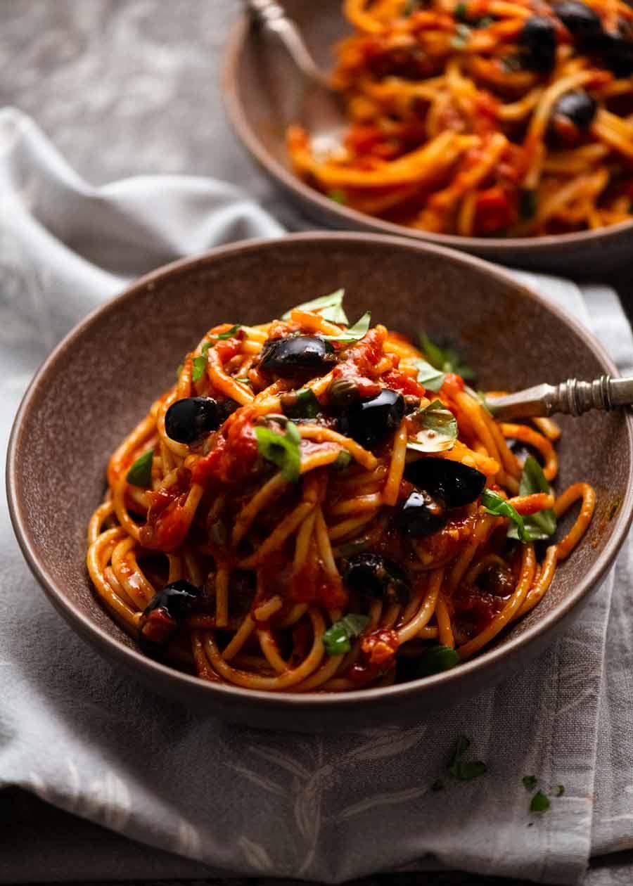 Bowl of Spaghetti alla Puttanesca