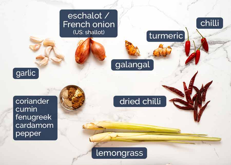 Ingredients in Thai Yellow Curry