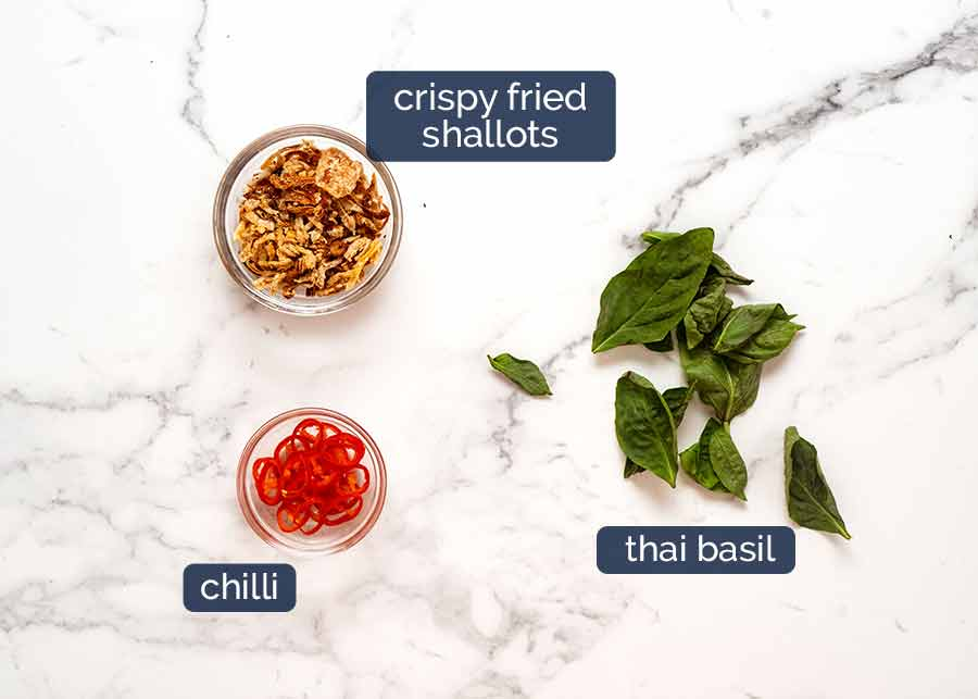 Toppings for Thai Yellow Curry