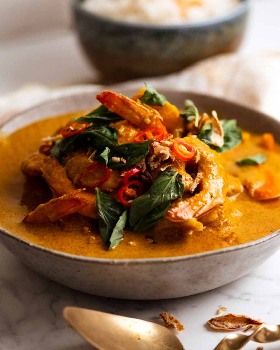 Thai Yellow Curry ready to be served