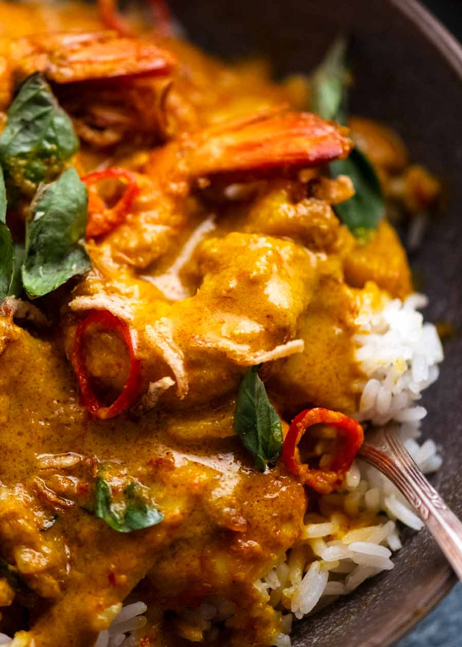 Close up of Thai Yellow Curry