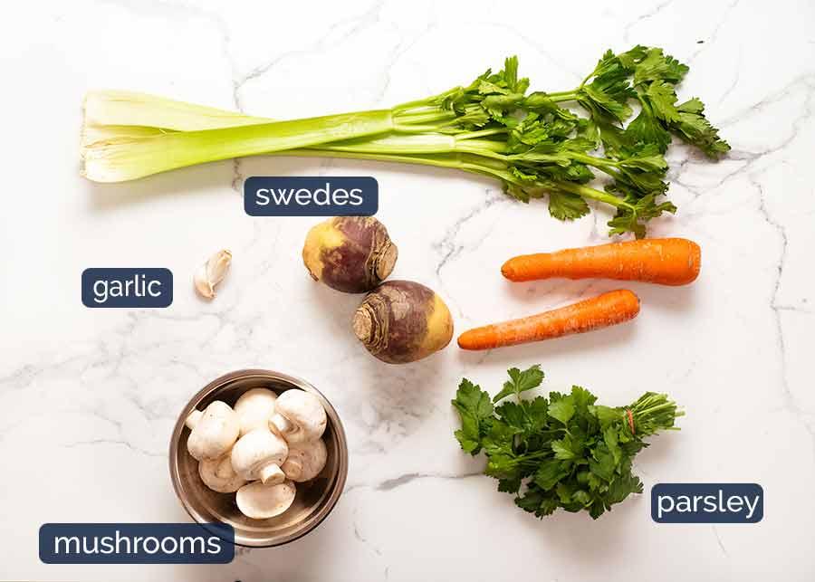 Ingredients in Pearl Barley Soup