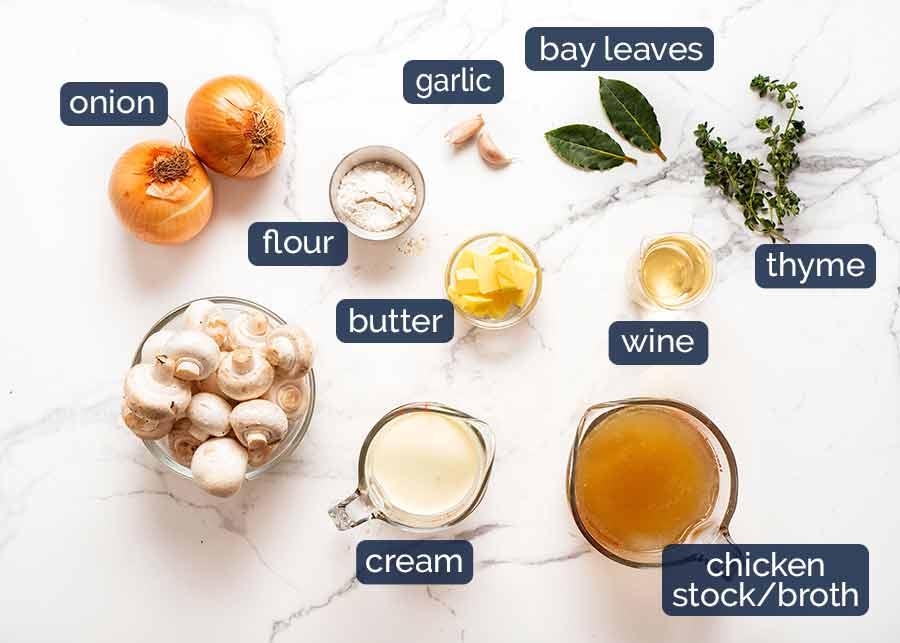 Ingredients in Chicken Fricassée