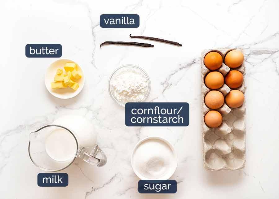 Flan Patissier ingredients