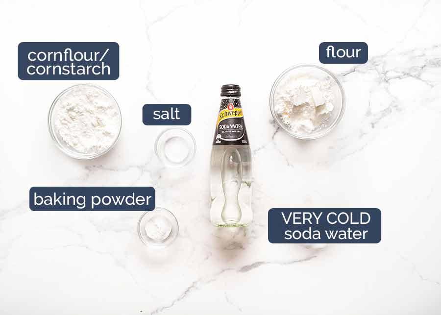 Ingredients for Honey Prawns