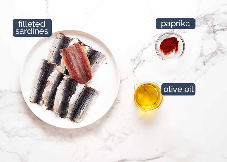 Ingredients for Mediterranean Crusted Sardines