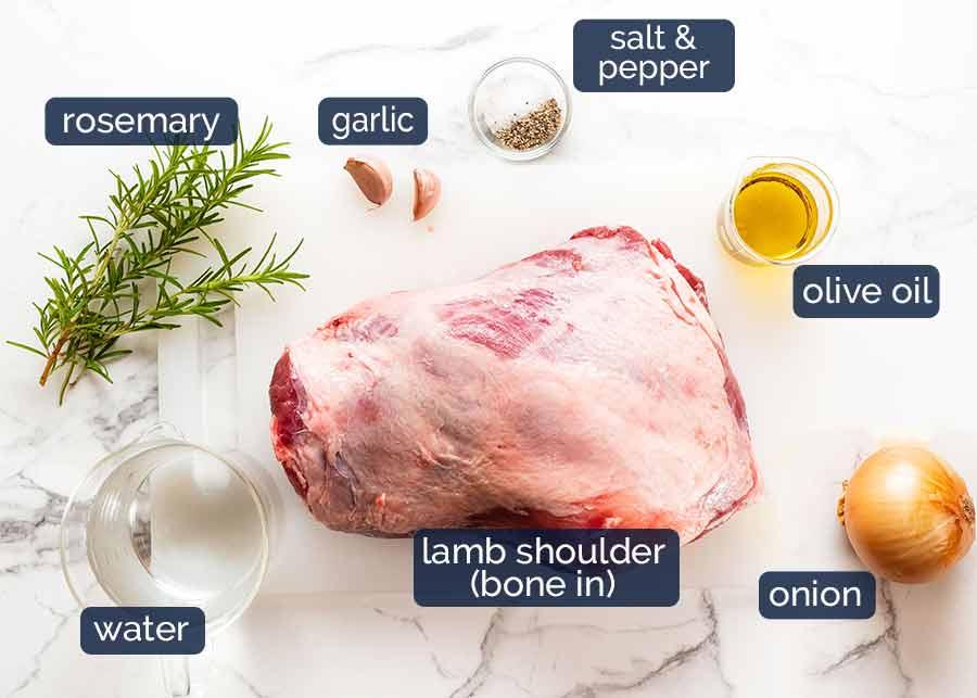 Ingredients for 12 Hour Slow Roasted Lamb Shoulder