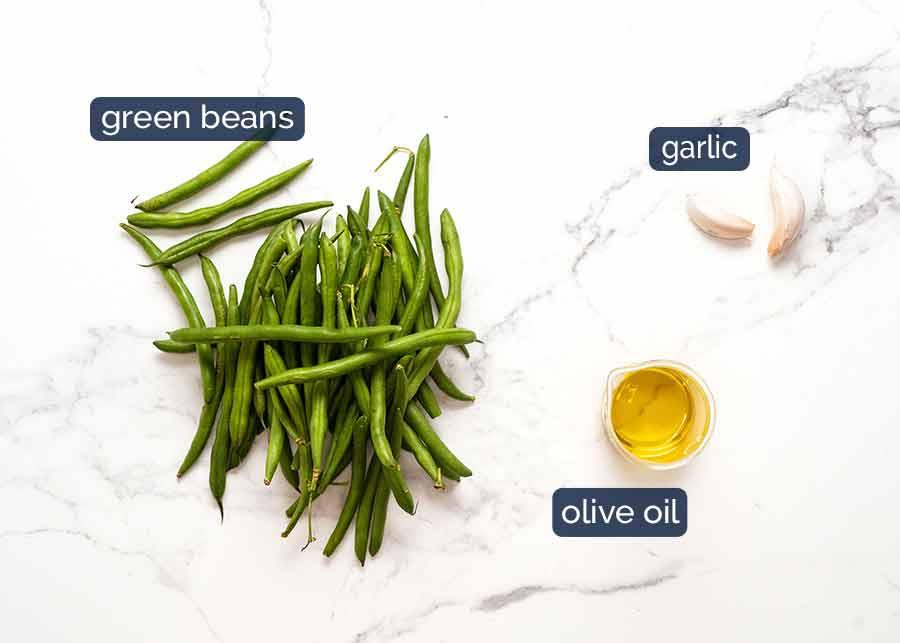 Garlic Sautéed Green Beans ingredients